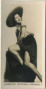 Dorothy Mitchell-Hedges 1939 Carreras Film & Stage Beauties Tobacco Card #30