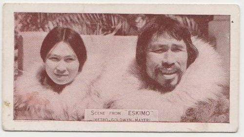 Dortuk + Nunarook of ESKIMO 1935 Ardath SCENES FROM BIG FILMS Tobacco Card #30