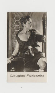 Douglas Fairbanks circa 1917 Theatrical Advertising Co 3x5 Large Trading Card