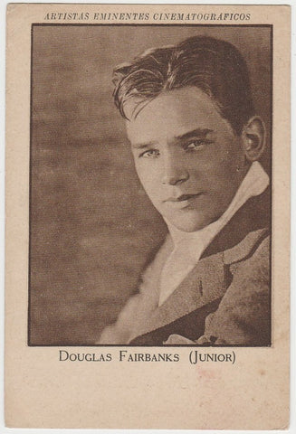 Douglas Fairbanks Jr 1940s Paper Stock Trading Card - Film Frame Design