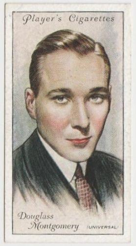 Douglass Montgomery 1934 John Player Film Stars Tobacco Card 2nd Series #32
