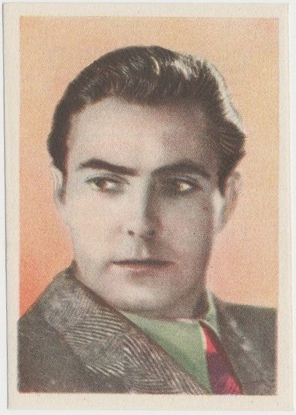 Tyrone Power 1930s Editorial Bruguera Cinefoto Paper Stock Trading Card #4