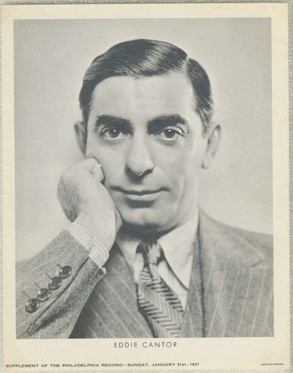 Eddie Cantor 1937 Dated Philadelphia Record Newspaper Supplement Photo M23