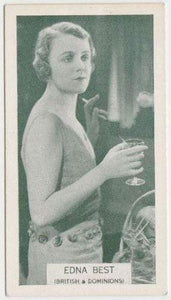 Edna Best 1934 Ardath British Born Film Stars Tobacco Card #8