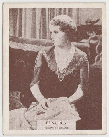 Edna Best 1930s Aguila Large Paper Stock Trading Card #124