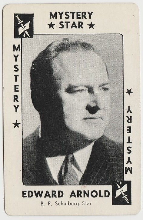Edward Arnold 1937 Peerless Cloudy Weight Machine Trading Card
