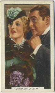 Edward Arnold + Binnie Barnes 1936 Gallaher Film Episodes Tobacco Card #9