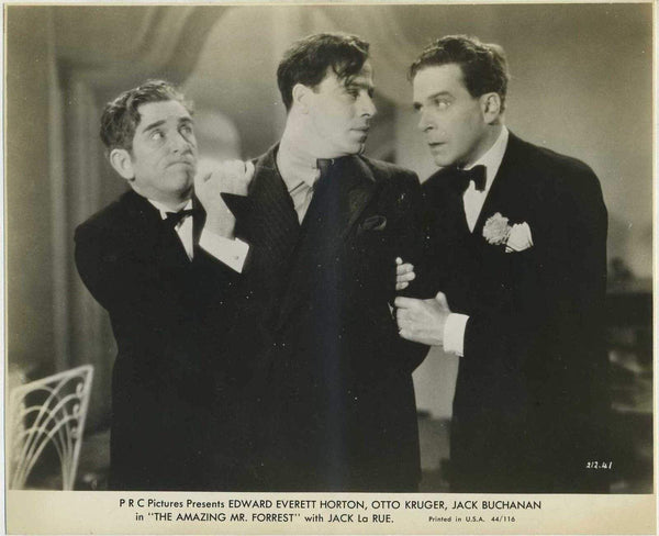 Edward Everett Horton + Jack La Rue 1944 Still Photo THE AMAZING MR FORREST