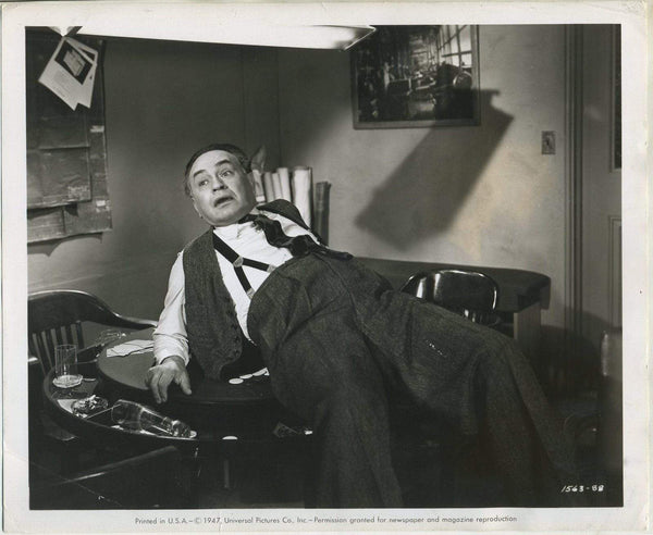 Edward G Robinson 1947 8x10 Still Photo ALL MY SONS w/Snipe Tag on Back