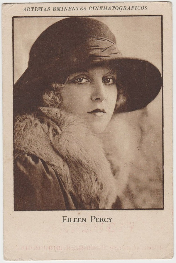 Eileen Percy 1920s Film Star Paper Stock Trading Card - Comet Back