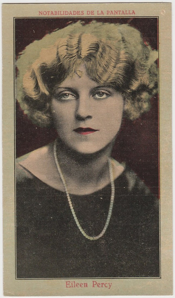 Eileen Percy 1920s Juncosa Tall PAPER STOCK Trading Card #F-15 Film Star