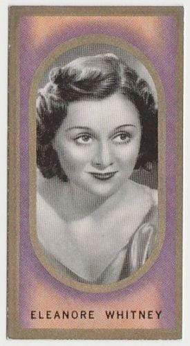 Eleanore Whitney 1938 Carreras Film Favourites Tobacco Card #32 - Movie Star NM
