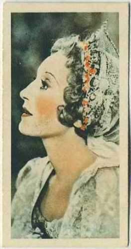 Elisabeth Bergner 1934 Godfrey Phillips Film Stars Tobacco Card #23