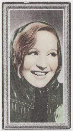Elisabeth Bergner 1936 Godfrey Phillips Stars of the Screen Tobacco Card #14