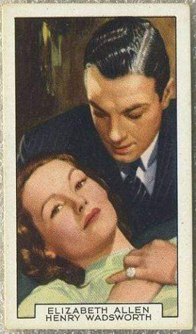 Elizabeth Allan + Wadsworth 1935 Gallaher Tobacco Card FP#32 Mark of the Vampire