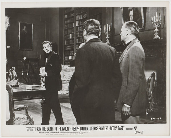 Joseph Cotten on Vintage 1958 Still Photo EM-25 From the Earth to the Moon