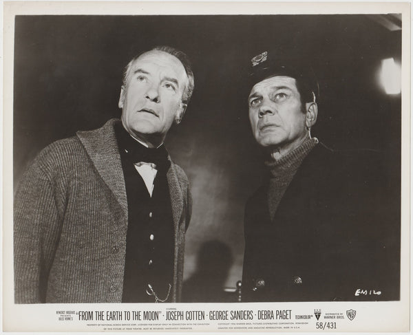 George Sanders + Joseph Cotten 1958 Still Photo EM120 From the Earth to the Moon