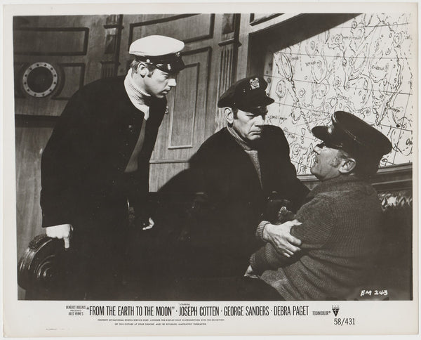 Joseph Cotten on Vintage 1958 Still Photo EM-243 From the Earth to the Moon