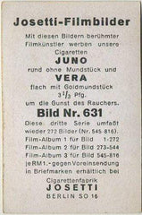 Emil Jannings 1930s Josetti Filmbilder Movie Star Tobacco Card #631