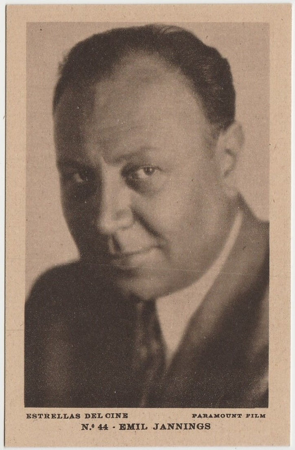 Emil Jannings 1929 Carreras Paramount Stars Tobacco Card #17