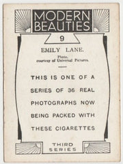 Emily Lane 1930s BAT Modern Beauties MD Trading Card Series 3 #9