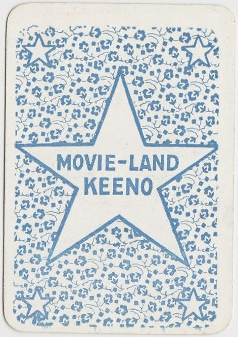 ERNEST TORRENCE Vintage 1929 Wilder MOVIE-LAND KEENO Game Card