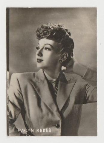 Evelyn Keyes 1940s Paper Stock Trading Card - Film Frame Design