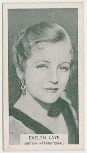 Evelyn Laye 1934 Ardath British Born Film Stars Tobacco Card #48