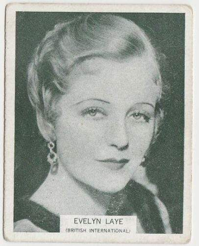 Evelyn Laye 1934 ARDATH British Born Film Stars Tobacco Card #48 LARGE