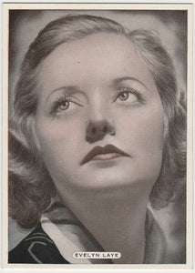 Evelyn Laye 1930s Aguila Large Paper Stock Trading Card #168