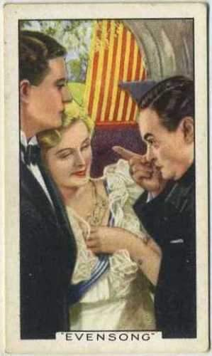 Evelyn Laye + Kortner + Carl Esmond 1935 Gallaher Movie Star Tobacco Card #39