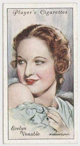 Evelyn Venable 1934 John Player Film Stars Tobacco Card 2nd Series #46