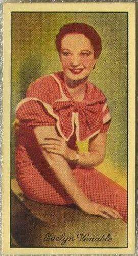 Evelyn Venable 1935 Carreras Famous Film Stars Tobacco Card #28