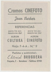 Jean Parker 1930s Editorial Bruguera Cinefoto Paper Stock Trading Card #9