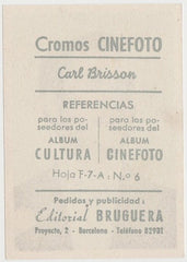 Carl Brisson 1930s Editorial Bruguera Cinefoto Paper Stock Trading Card #6