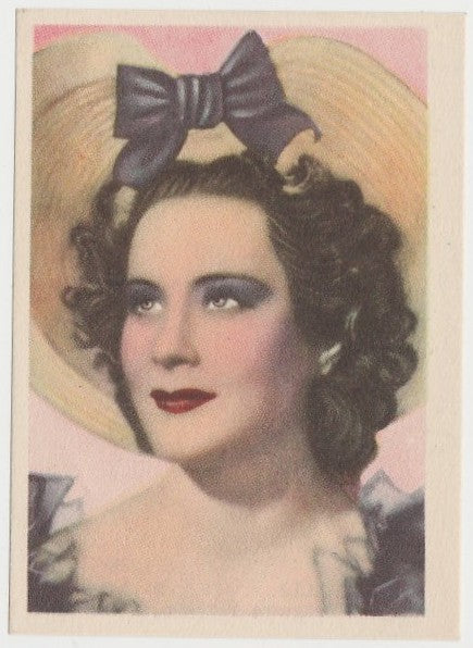 Alida Valli 1930s Editorial Bruguera Paper Stock Trading Card #5