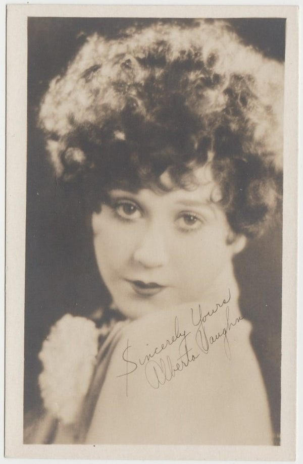 Alberta Vaughn Vintage 1920s Era 3.5 X 5.5 Small Fan Photo