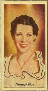Frances Dee 1935 Carreras Famous Film Stars Tobacco Card #52