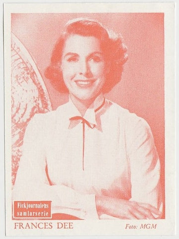 FRANCES DEE Vintage 1930s Estrellas del Cine #43 POSTCARD from Spain