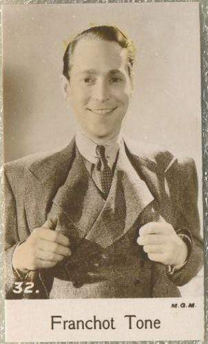 Franchot Tone 1935 Bridgewater Film Stars Small Trading Card - Series 4 #32