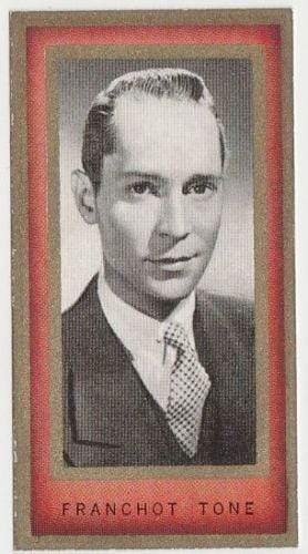 Franchot Tone 1938 Carreras Film Favourites Tobacco Card #23 - Movie Star NM