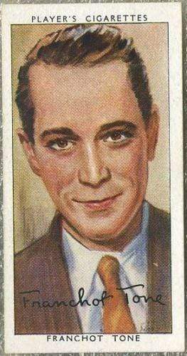 Franchot Tone 1938 John Player Film Stars Tobacco Card 3rd Series #47