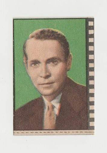 Franchot Tone 1940s Paper Stock Trading Card - Film Frame Design
