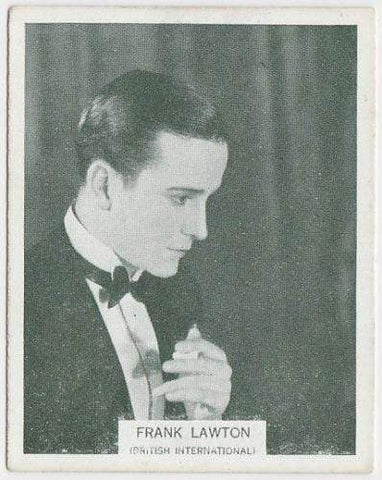 Frank Lawton 1934 ARDATH British Born Film Stars Tobacco Card #23 LARGE