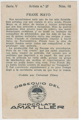 Frank Mayo 1920s Chocolate Amatller Trading Card from Spain #V-37-62