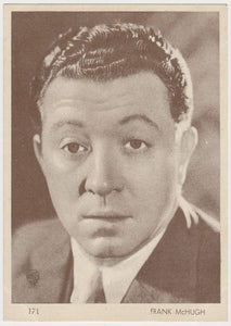 Frank McHugh 1930s Aguila Large Paper Stock Trading Card #171