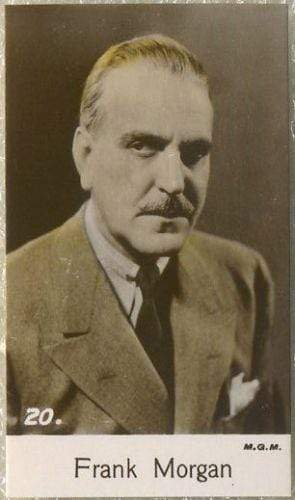 Frank Morgan 1935 Bridgewater Film Stars Small Trading Card - Series 4 #20