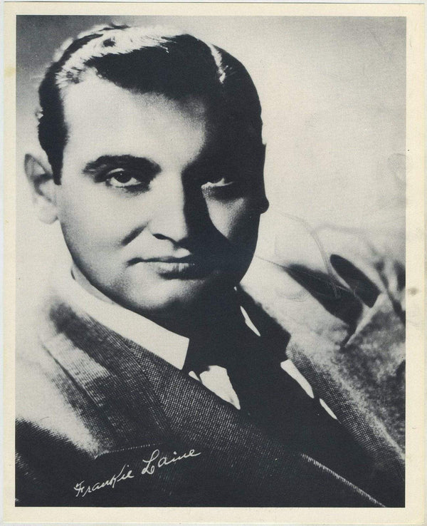 Frankie Laine circa 1954 Star Pictures Paper Premium Photo 7.5 X 9.5