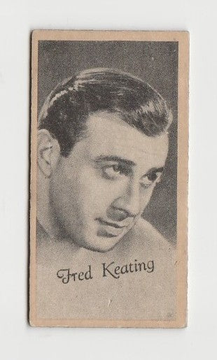 Fred Keating 1937 Peerless Cloudy Weight Machine Trading Card
