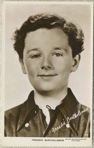 Freddie Bartholomew 1930s Real Photo Postcard - RPPC - MGM Movie Star